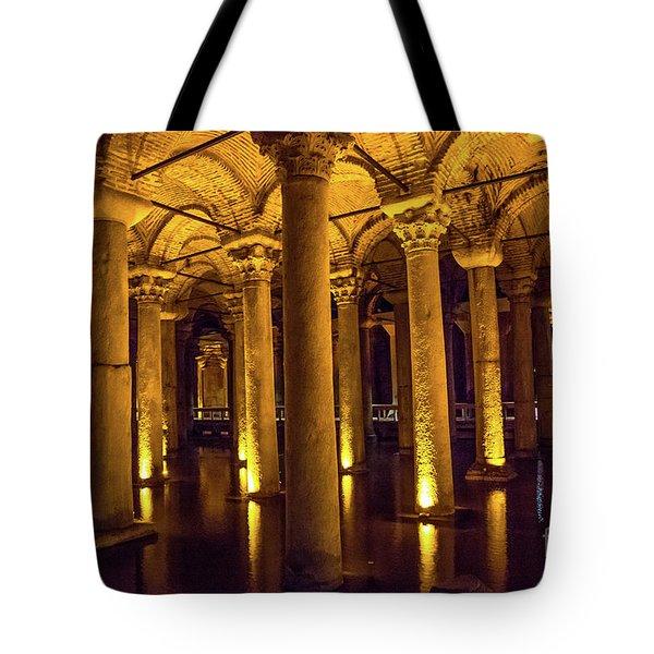 Istanbul Underground Cistern 4 Tote Bag