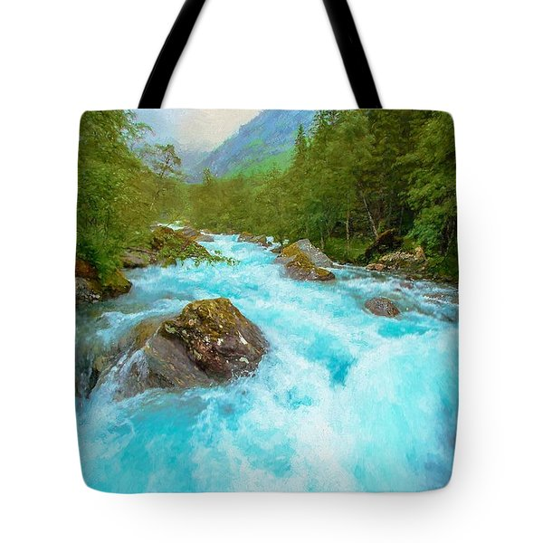 Tote Bag featuring the photograph Istra River by Rose-Maries Pictures