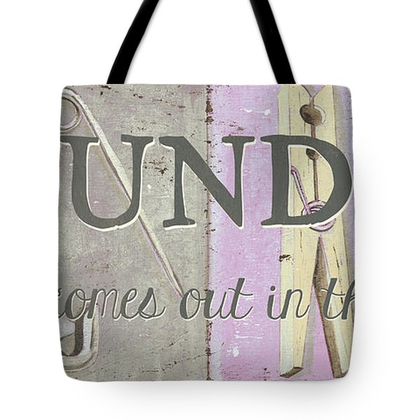 Tote Bag featuring the painting It All Comes Out In The Wash by Debbie DeWitt