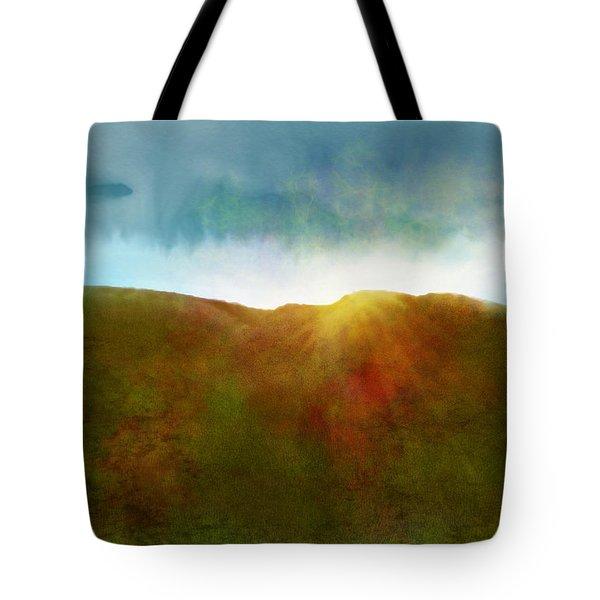 Tote Bag featuring the digital art It Began To Dawn by Antonio Romero