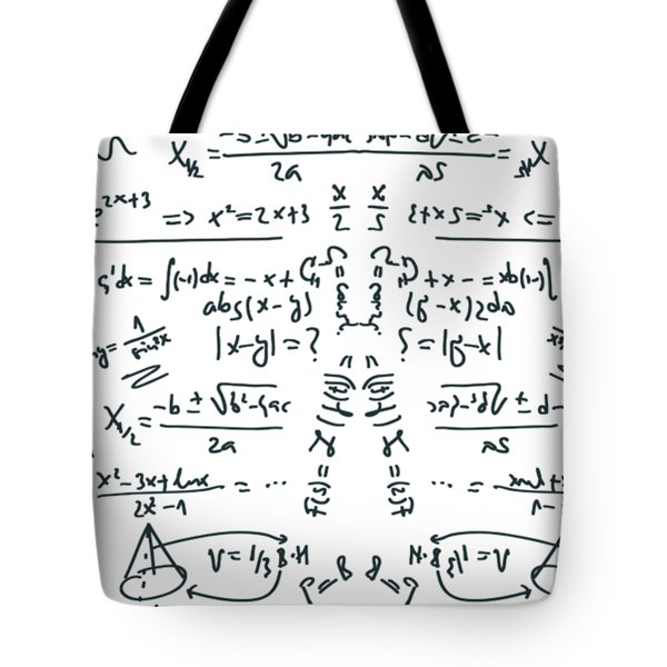 Tote Bag featuring the drawing It Figures... by ReInVintaged