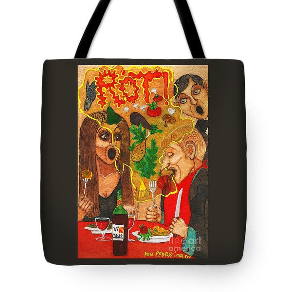 It Happened In A Restaurant Tote Bag by Don Pedro De Gracia