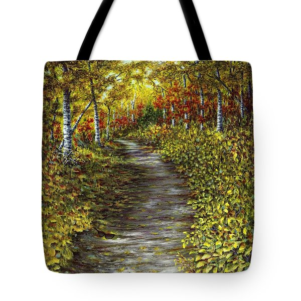 It Hiked Silver Bay Tote Bag