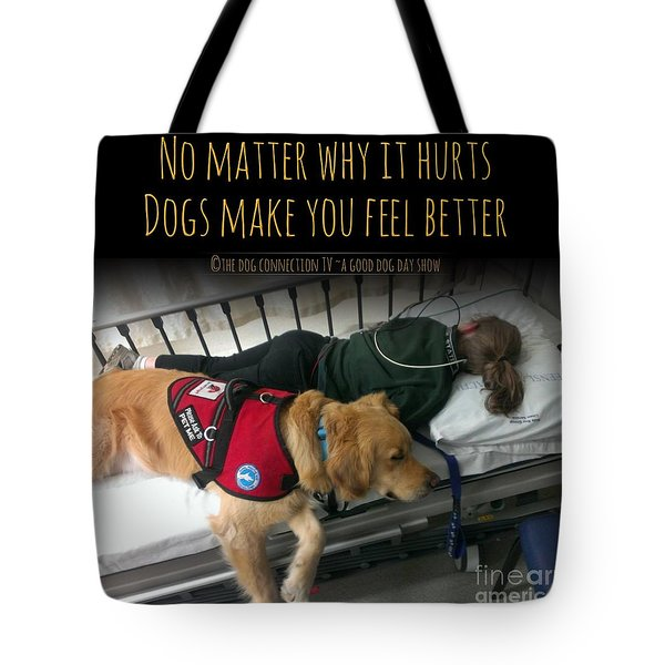 Tote Bag featuring the digital art It Hurts by Kathy Tarochione