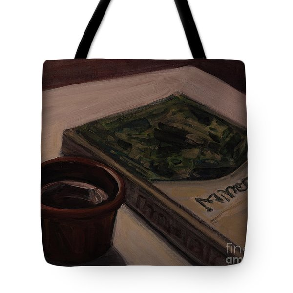 Tote Bag featuring the painting It Is Coffee Time by Olimpia - Hinamatsuri Barbu