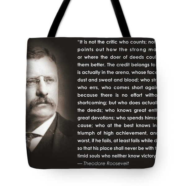 It Is Not The Critic Tote Bag