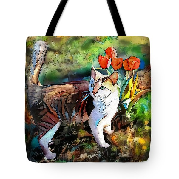 Tote Bag featuring the digital art It Must Be Spring by Pennie McCracken