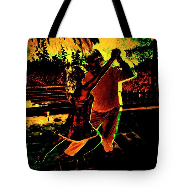 Tote Bag featuring the photograph It Takes Two To Tango by Al Bourassa