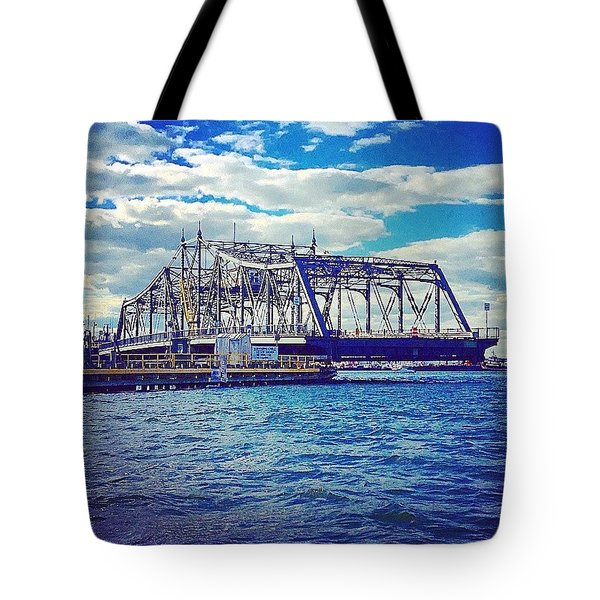 Swing Bridge  Tote Bag