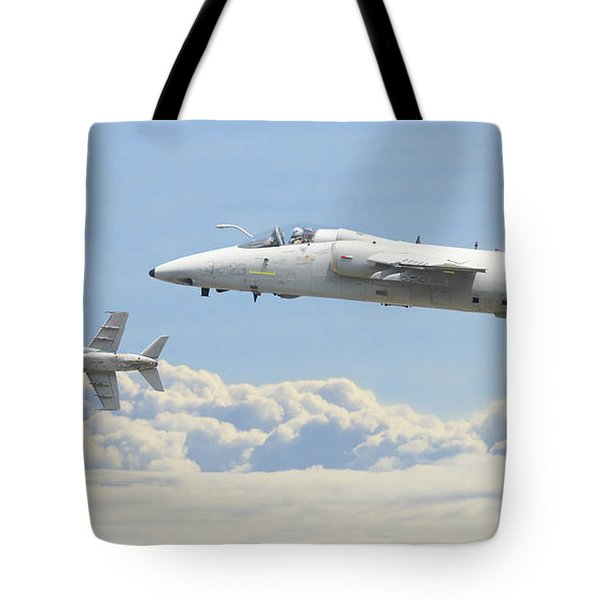 Tote Bag featuring the digital art Italian Air Force - Ghibli by Pat Speirs