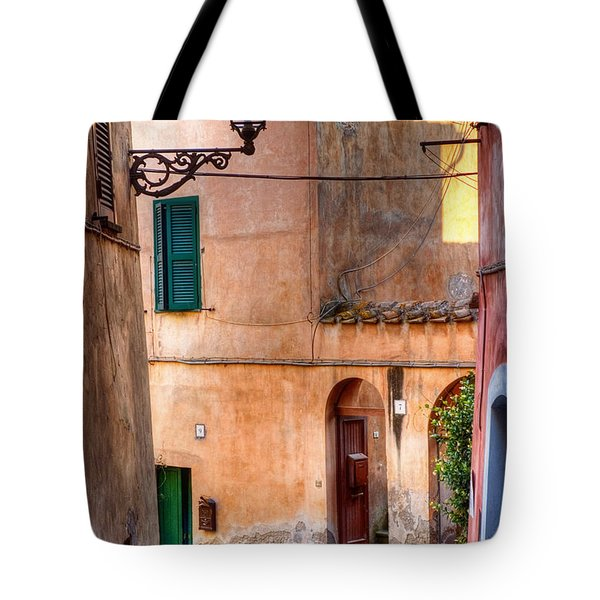 Italian Alley Tote Bag by Silvia Ganora