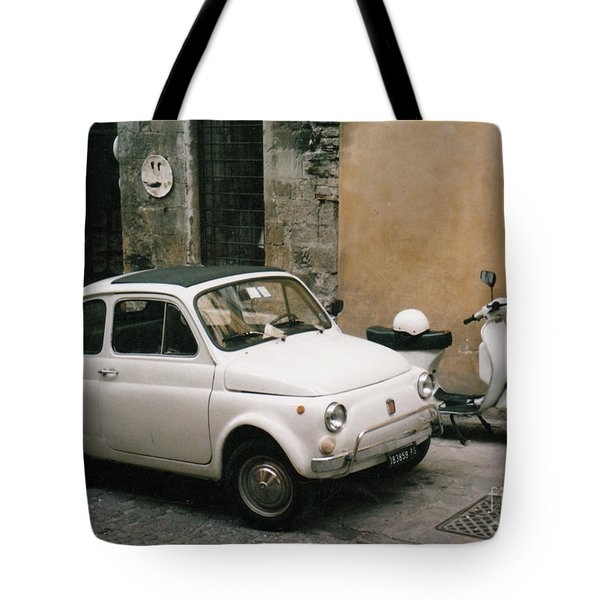 Tote Bag featuring the photograph Italian Classic Commute  by Frank Stallone