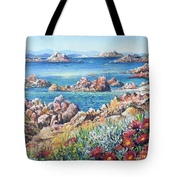 Italian Coastline Tote Bag by Lou Ann Bagnall