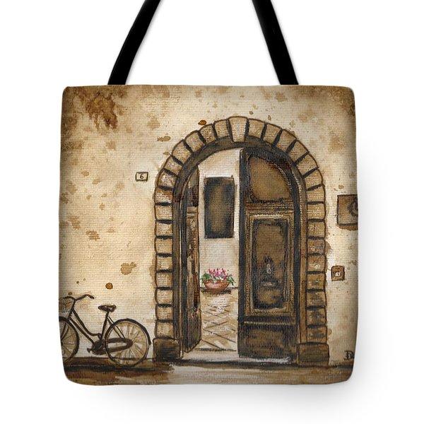 Italian Coffee Break Tote Bag by Dianne  Ilka