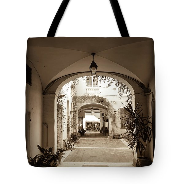 Italian Courtyard  Tote Bag