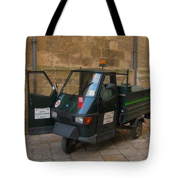 Italian Garbage Truck Tote Bag