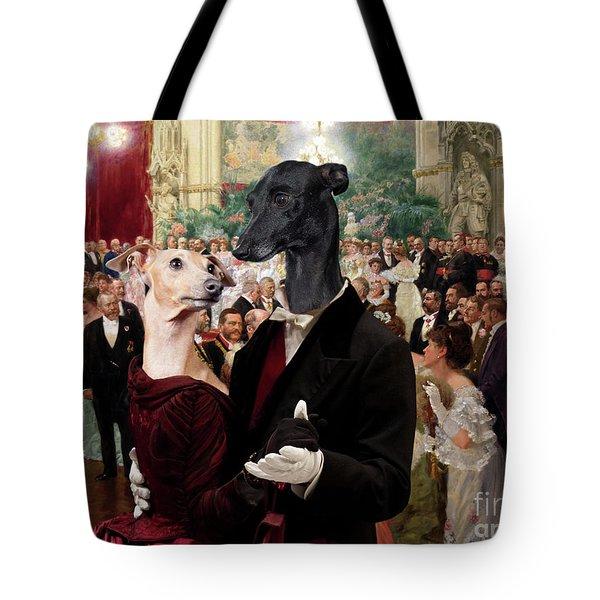 Italian Greyhound Art Canvas Print - Beautiful City Dance Hall Vienna Wilhelm Gause Tote Bag