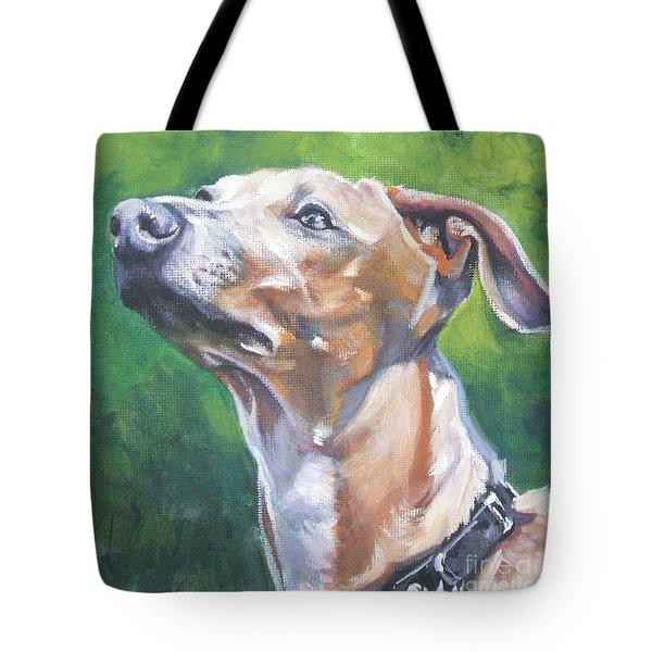 Italian Greyhound Tote Bag by Lee Ann Shepard