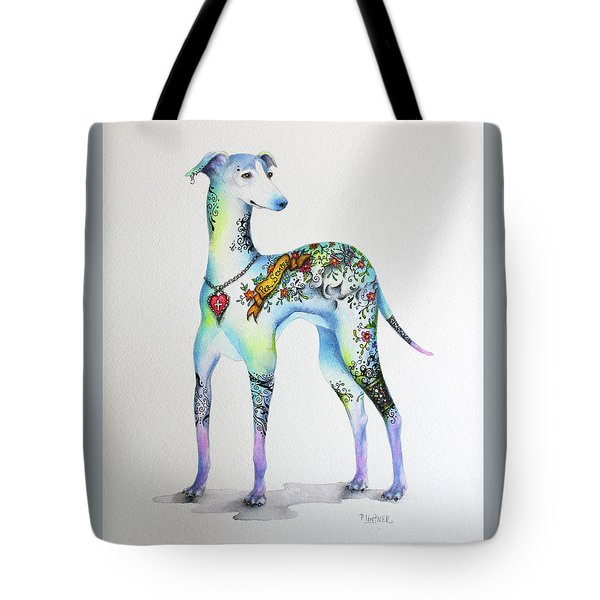 Italian Greyhound Tattoo Dog Tote Bag by Patricia Lintner