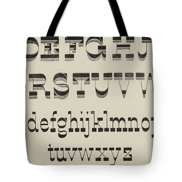 Italian, Large And Small Classic Font Tote Bag