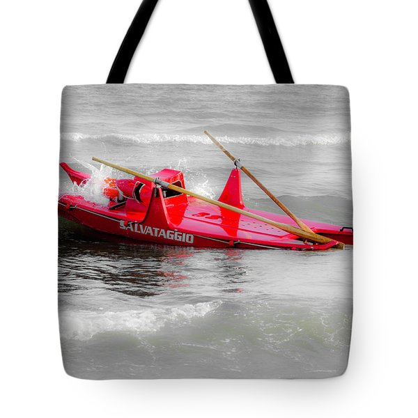 Italian Life Guard Boat Tote Bag