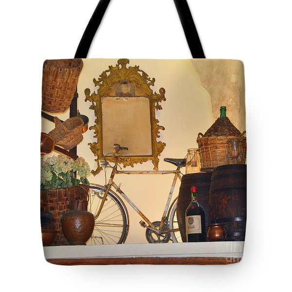 Tote Bag featuring the photograph Italian Osteria by Frank Stallone