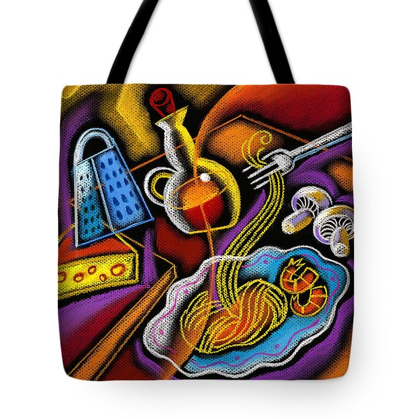 Italian Pasta Tote Bag by Leon Zernitsky