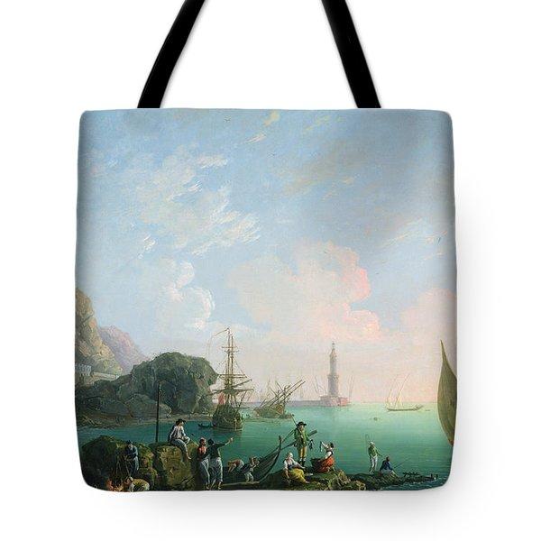 Italian Port Scene  Tote Bag
