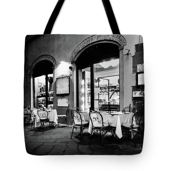 Italian Restaurant In Lucca, Italy Tote Bag