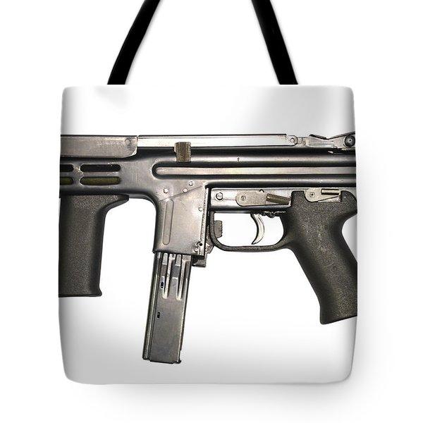 Italian Spectre M4 Submachine Gun Tote Bag by Andrew Chittock