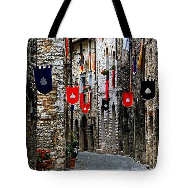 Italian Street Flags Tote Bag