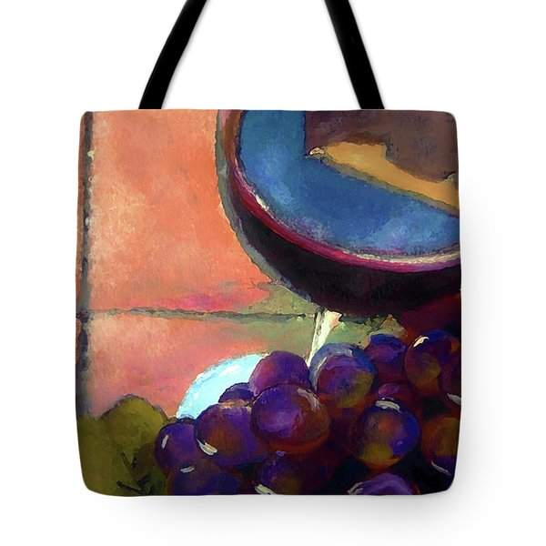 Italian Tile And Fine Wine Tote Bag by Lisa Kaiser