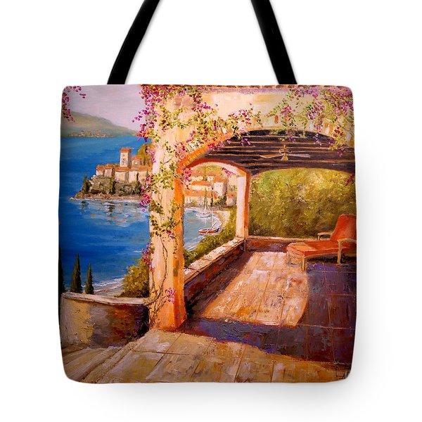 Italian Villa  Tote Bag by Alan Lakin