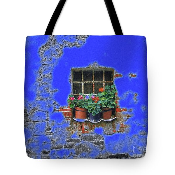 Italian Wallflowers Tote Bag by Karen Lewis