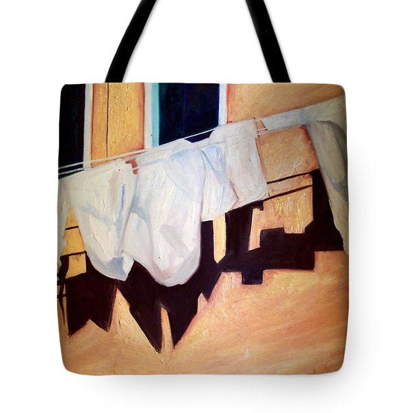 Tote Bag featuring the painting Italian Wash by Patricia Arroyo