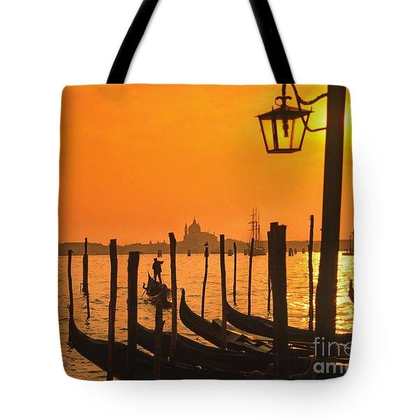 Tote Bag featuring the photograph Italy Venice Riva Degli Schiavoni , Canale Grande Riva Degli Sch by Juergen Held