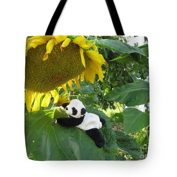 Tote Bag featuring the photograph It's A Big Sunflower by Ausra Huntington nee Paulauskaite