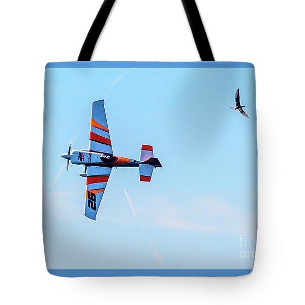 It's A Bird And A Plane, Red Bull Air Show, Rovinj, Croatia Tote Bag