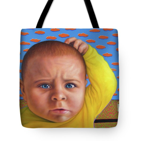 It's A Confusing World Tote Bag by James W Johnson