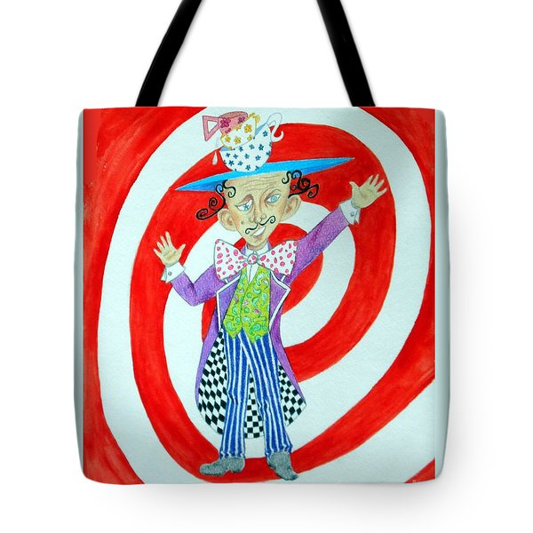 It's A Mad, Mad, Mad, Mad Tea Party -- Humorous Mad Hatter Portrait Tote Bag