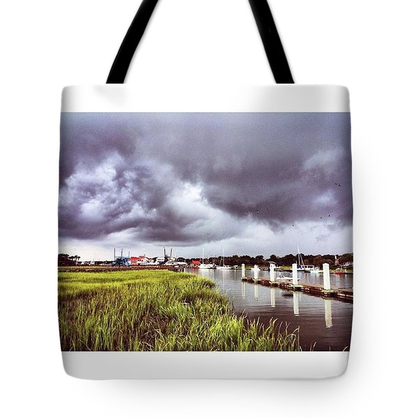 It's A Stormy Sunday Here In Tote Bag
