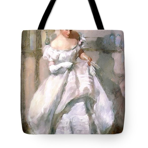 Tote Bag featuring the digital art It's All About The Dress by Pennie McCracken