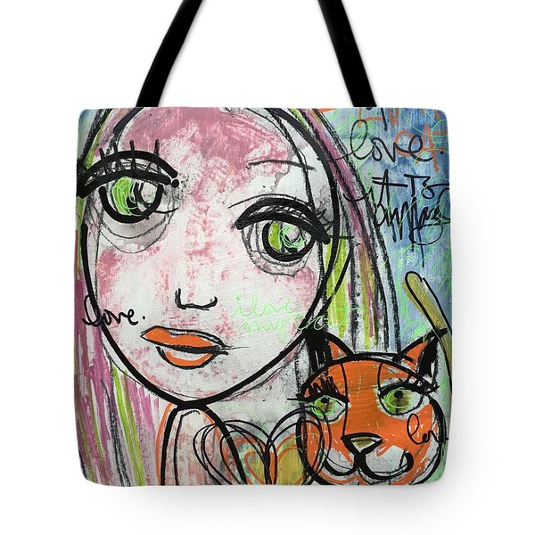 It's Amazing How Much I Love My Cat Tote Bag by Laurie Maves ART