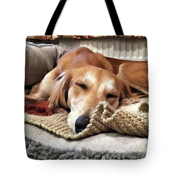 It's Been A Hard Day...  #saluki Tote Bag by John Edwards