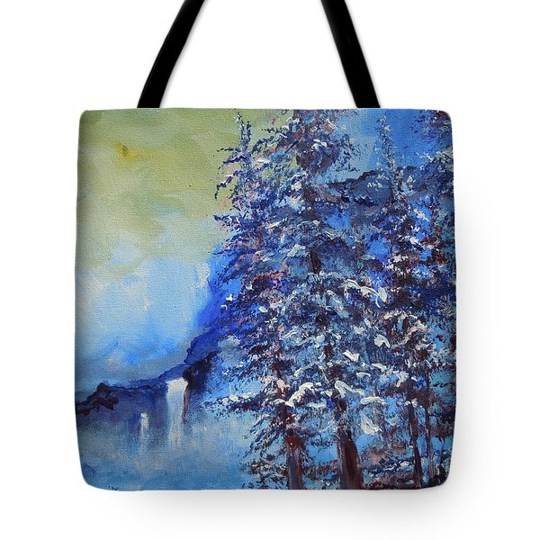 It's Cold Out Tote Bag by Dan Whittemore