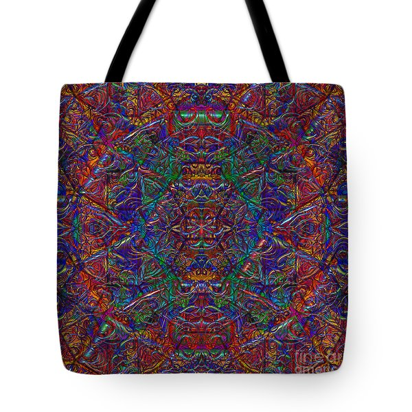 Tote Bag featuring the digital art It's Complicated 2017 by Kathryn Strick