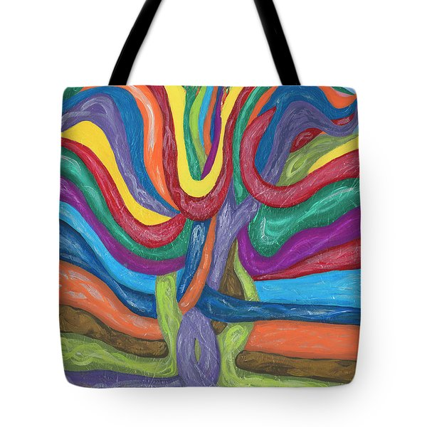 Tote Bag featuring the painting Its Complicated by Ania M Milo
