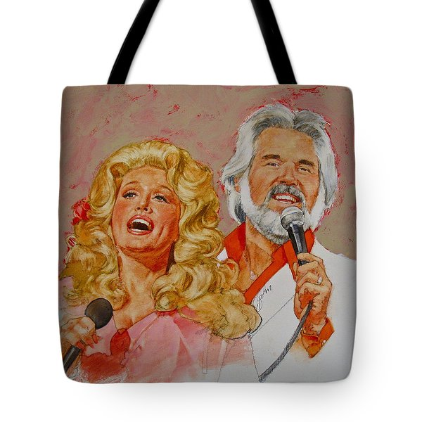 Its Country - 8  Dolly Parton Kenny Rogers Tote Bag