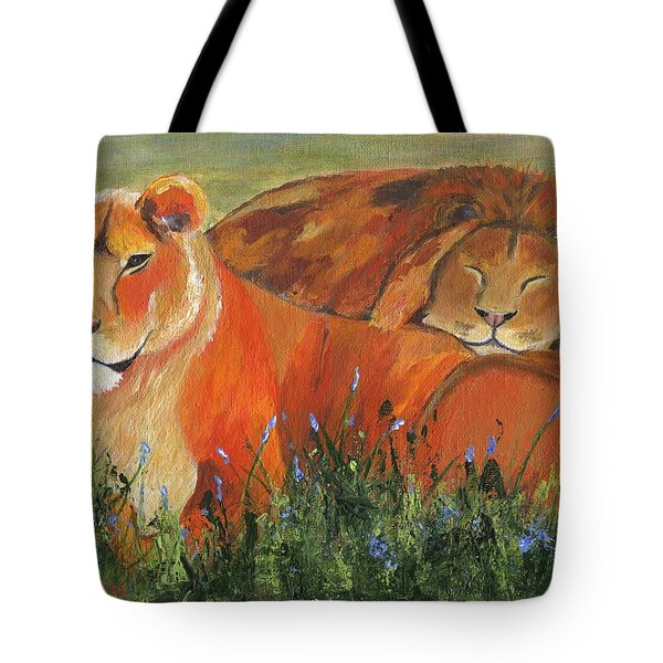 Tote Bag featuring the painting It's Good To Be King by Jamie Frier