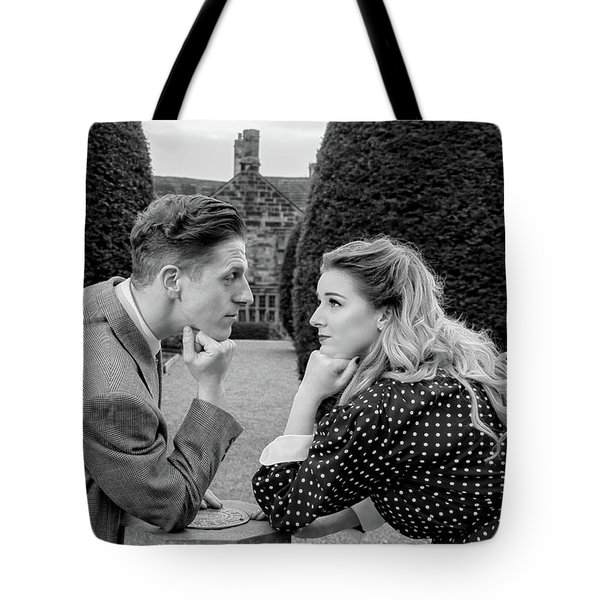 It's In The Eyes Bw Tote Bag